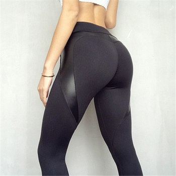 Color Block Black Normal leggings