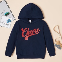 Trendy Letter Print Hooded Sweatshirt