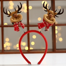 Christmas ornament pet plush christmas hat hairpin