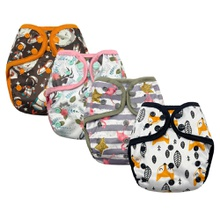Cartoon Animal Baby Washable Adjustable Cloth Diaper Waterproof Breathable Eco-friendly Diaper