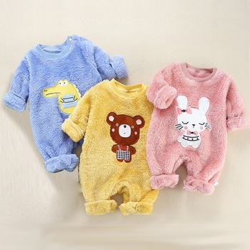 Baby Adorable Animal Fleece Jumpsuit