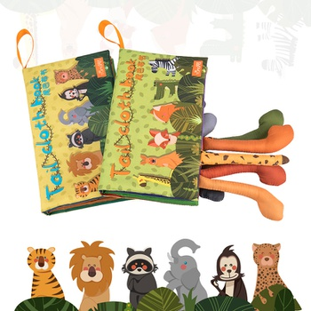 Cloth Baby Cute Animal Book Intelligence Development Educational Toy Soft Cloth Learning Cognize Books