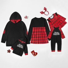 Merry Christmas Series Plaid Family Matching Tops