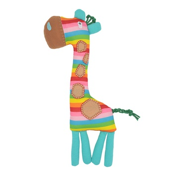 Cute Baby Soft Plush Rattle Animal Giraffe Toy Educational Toy Baby Rattle Gift