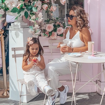 100% Cotton Solid Bow Sling Matching Jumpsuits