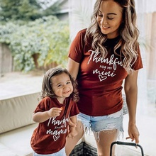 Love Letter Print Pattern Tops for Mom and Me