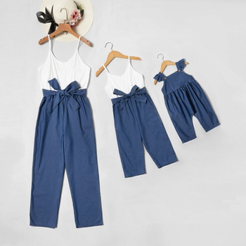 Mommy and Me Colorblock Jumpsuits