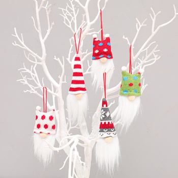 Rudolph doll pendant with spherical cap without face Three pieces