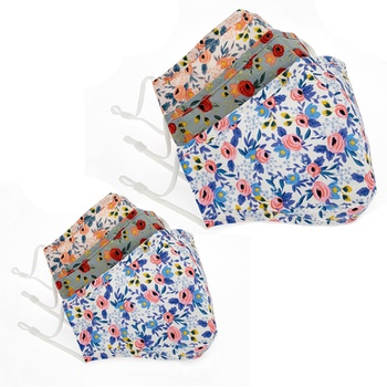 3-Layer Stylish Floral Print Protective Anti Dust Breathable  Mask for Mommy and Me ( Without Replaceable Filters)