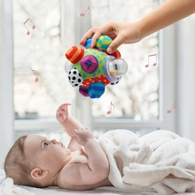Soft Baby Textured Rubber Ball develop baby tactile senses toy Educational Rattle Activity toy Gift