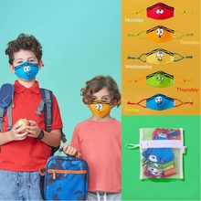 Cartoon Child Printing Reuseable Face Mask Washable Anti Dust Mask Cloth(Not Include Filters)