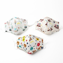 Animal Cute Printing Reuseable Face Mask With Breathing Valve Washable Anti Dust Mask Cloth