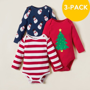 3-pack Baby Christmas Bodysuits Set