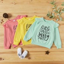 Toddler Girl Casual Letter Pullovers