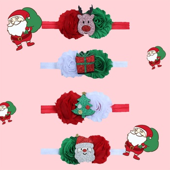 European and American Christmas decoration pet headband cartoon pattern headband
