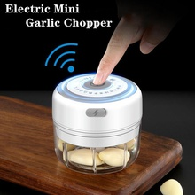 Mini Electric Garlic Grinder Portable Food Press Mincer Seasoning Masher Spice Chopper Kitchen Accessories