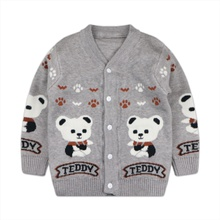 Baby / Toddler Adorable Bear Print Warm Knitwear