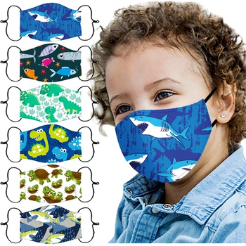 Cotton Child Printing Reuseable Face Mask washable Anti Dust Mask Cloth(Not Include Filters)