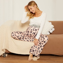 Leopard-print loose pantaloons for pregnant women