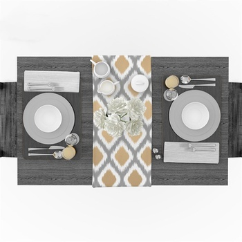 Simple Style Table Runner Classical Retro Table Cloth Table Flag