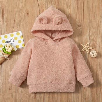 1pc Baby Girl casual Long-sleeve Hooded  Pullovers & Hoodies
