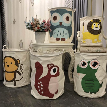Cartoon Sundries Storage Organizer Laundry Basket Clothes Storage Bag Dirty Laundry Basket Kids Toys Holder