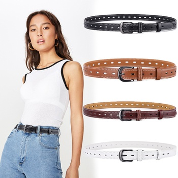 Metal Belt for Women Lady Strap Female Pin Buckle Fashion Belts