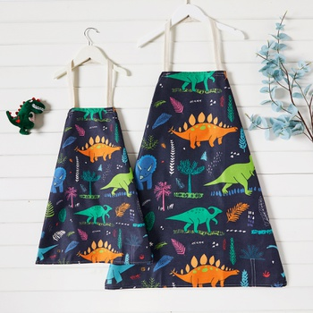 Dinosaur and Plant Print Aprons for Family