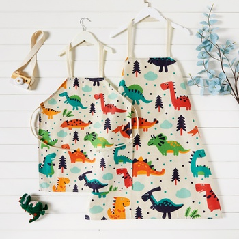 Cute  Dinosaur Print Aprons for Family