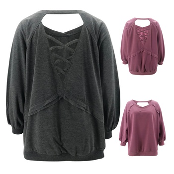 Round collar Plain long sleeve normal Pullover