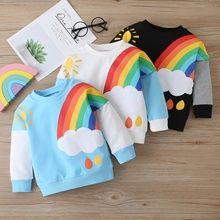 Baby / Toddler Cute Sun Rainbow Print Long-sleeve Pullover