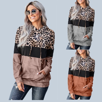 Hooded Leopard full print long sleeve normal Hooded