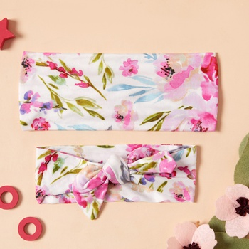 Floral Print Headbands for Mommy and Me