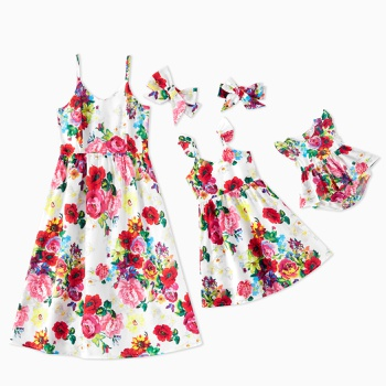 Mosaic Mommy and Me Floral Print Tank Dresses