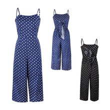 Polka dot casual jumpsuit