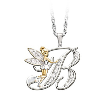 Letter Fairy Pendent Necklace Jewelry
