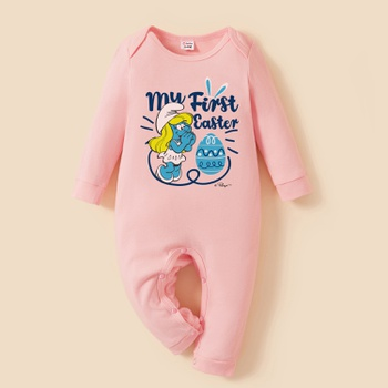 Smurfs Baby First Easter 100% Cotton One Piece
