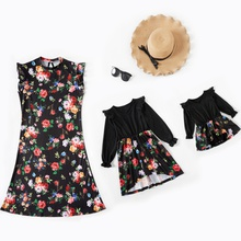 Mommy and Me Floral Print Sleeveless Dresses