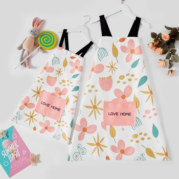 Mommy and Me Leaves Printed Aprons