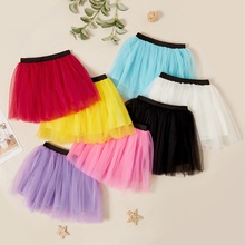 Kids Girl Mesh Elasticized Skirt