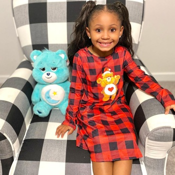 Care Bears Merry Christmas s Plaid Girl Dress