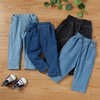 1pc Baby Boy Cotton casual straight Jeans