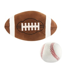 Sports Pillow Toy Novelty Stuffed Gift Baseball Rugby Home Cafe Decorative