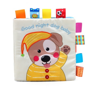 Adorable Dog Cloth Baby Book Intelligence Development Educational Toy Soft Cloth Learning Cognize Books