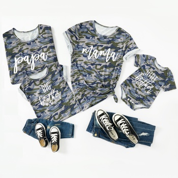 Camouflage Color Cotton Family Matching T-shirts
