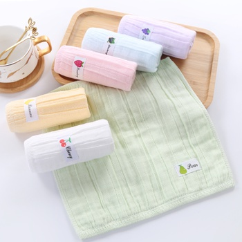 Square Baby Towel Pure Cotton Children Face Towels Double Gauze Soft Handkerchief Bath Towel For Newborns Infants Bib