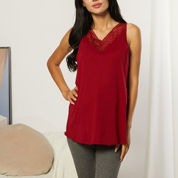 Nursing casual Print V-neck Nursing Tank