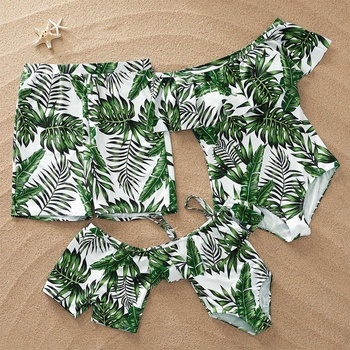Full of Leaves Family Matching Swimsuit