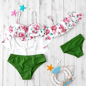 Flower Top Swimsuit for Mommy and Me