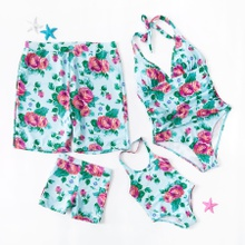 One Piece Spring Blossom Family Matching Swimsuit